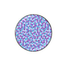 Purple Blue Cubes Golf Ball Marker 4 Pack (for Hat Clip)
