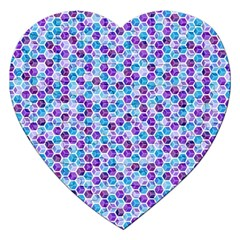 Purple Blue Cubes Jigsaw Puzzle (Heart)