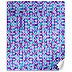 Purple Blue Cubes Canvas 8  x 10  (Unframed)