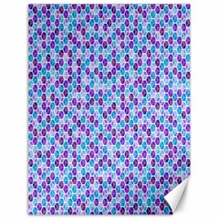 Purple Blue Cubes Canvas 12  x 16  (Unframed)