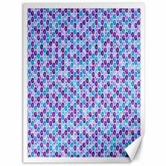 Purple Blue Cubes Canvas 36  X 48  (unframed)