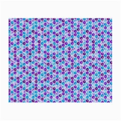 Purple Blue Cubes Glasses Cloth (Small, Two Sided)