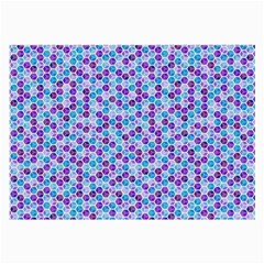 Purple Blue Cubes Glasses Cloth (large, Two Sided)