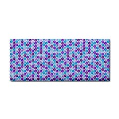 Purple Blue Cubes Hand Towel