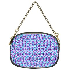 Purple Blue Cubes Chain Purse (One Side)