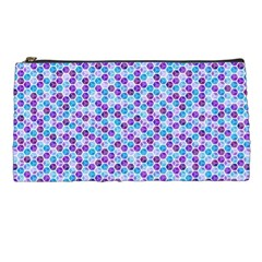 Purple Blue Cubes Pencil Case