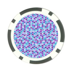 Purple Blue Cubes Poker Chip (10 Pack)