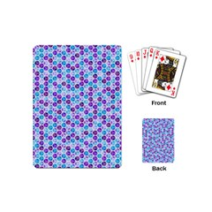 Purple Blue Cubes Playing Cards (mini)