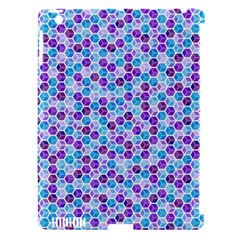Purple Blue Cubes Apple iPad 3/4 Hardshell Case (Compatible with Smart Cover)
