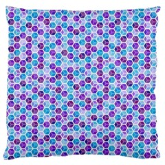 Purple Blue Cubes Large Cushion Case (Two Sided)