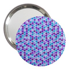 Purple Blue Cubes 3  Handbag Mirror