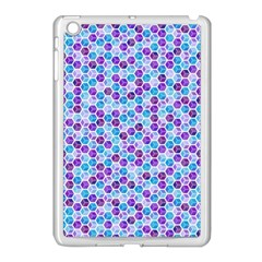 Purple Blue Cubes Apple Ipad Mini Case (white)