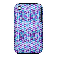 Purple Blue Cubes Apple iPhone 3G/3GS Hardshell Case (PC+Silicone)