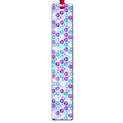 Purple Blue Cubes Large Bookmark