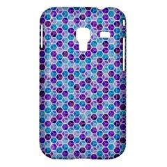 Purple Blue Cubes Samsung Galaxy Ace Plus S7500 Hardshell Case