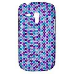 Purple Blue Cubes Samsung Galaxy S3 Mini I8190 Hardshell Case