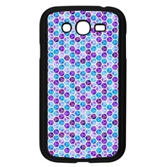 Purple Blue Cubes Samsung Galaxy Grand DUOS I9082 Case (Black)