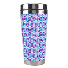 Purple Blue Cubes Stainless Steel Travel Tumbler