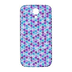 Purple Blue Cubes Samsung Galaxy S4 I9500/i9505  Hardshell Back Case