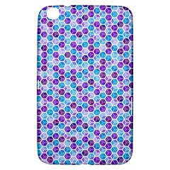 Purple Blue Cubes Samsung Galaxy Tab 3 (8 ) T3100 Hardshell Case