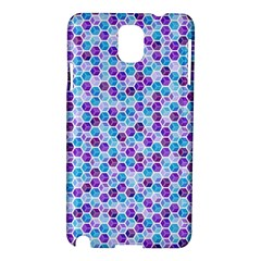 Purple Blue Cubes Samsung Galaxy Note 3 N9005 Hardshell Case