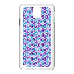 Purple Blue Cubes Samsung Galaxy Note 3 N9005 Case (white)