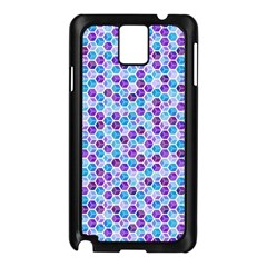 Purple Blue Cubes Samsung Galaxy Note 3 N9005 Case (black)
