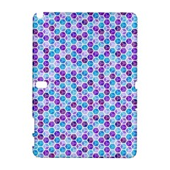 Purple Blue Cubes Samsung Galaxy Note 10.1 (P600) Hardshell Case