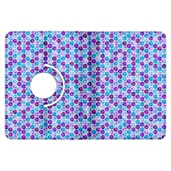 Purple Blue Cubes Kindle Fire HDX 7  Flip 360 Case