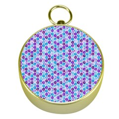 Purple Blue Cubes Gold Compass