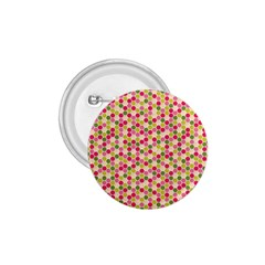 Pink Green Beehive Pattern 1.75  Button