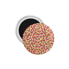 Pink Green Beehive Pattern 1.75  Button Magnet