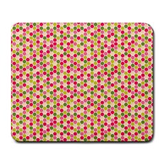 Pink Green Beehive Pattern Large Mouse Pad (Rectangle)