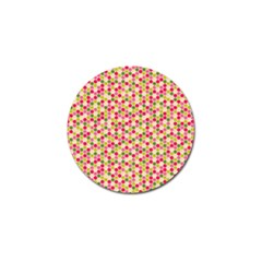 Pink Green Beehive Pattern Golf Ball Marker 4 Pack