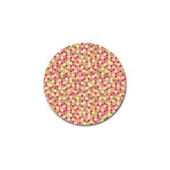 Pink Green Beehive Pattern Golf Ball Marker 10 Pack