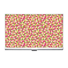 Pink Green Beehive Pattern Business Card Holder