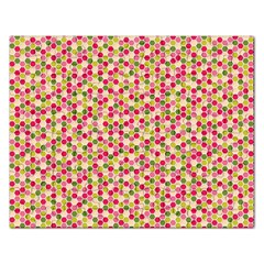 Pink Green Beehive Pattern Jigsaw Puzzle (Rectangle)