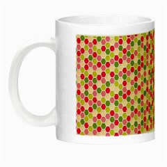 Pink Green Beehive Pattern Glow in the Dark Mug