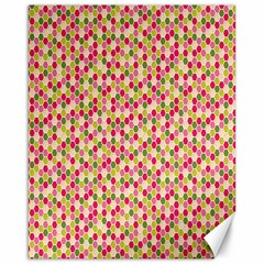 Pink Green Beehive Pattern Canvas 16  x 20  (Unframed)