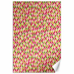 Pink Green Beehive Pattern Canvas 24  x 36  (Unframed)