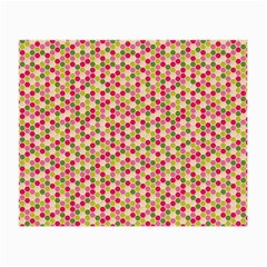 Pink Green Beehive Pattern Glasses Cloth (Small, Two Sided)