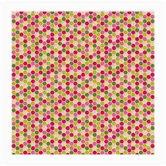 Pink Green Beehive Pattern Glasses Cloth (Medium, Two Sided)