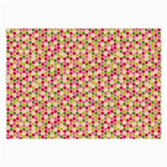 Pink Green Beehive Pattern Glasses Cloth (Large, Two Sided)