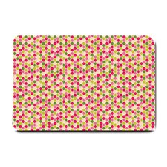 Pink Green Beehive Pattern Small Door Mat