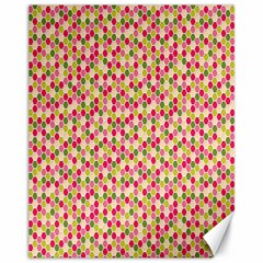 Pink Green Beehive Pattern Canvas 11  X 14  (unframed)