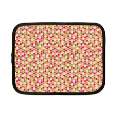 Pink Green Beehive Pattern Netbook Sleeve (small)
