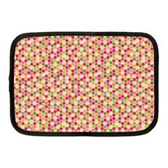 Pink Green Beehive Pattern Netbook Sleeve (medium)