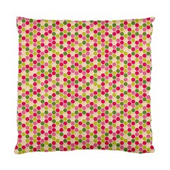Pink Green Beehive Pattern Cushion Case (two Sided)