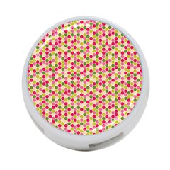 Pink Green Beehive Pattern 4 Port Usb Hub (one Side)