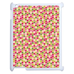 Pink Green Beehive Pattern Apple iPad 2 Case (White)